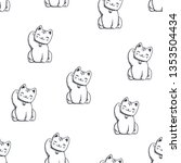 vector seamless pattern with... | Shutterstock .eps vector #1353504434