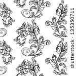floral seamless pattern | Shutterstock .eps vector #135350711
