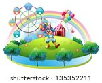 illustration of a clown with... | Shutterstock . vector #135352211