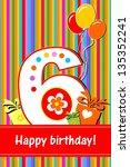 happy birthday card.... | Shutterstock . vector #135352241