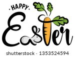 happy easter hand drawn... | Shutterstock .eps vector #1353524594