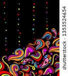 colorful abstract hand drawn...   Shutterstock .eps vector #1353524654