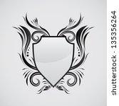 shield ornamental | Shutterstock .eps vector #135356264