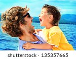 Portrait Of A Happy Father Wit...