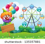 illustration of a clown with... | Shutterstock . vector #135357881