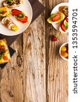 breakfast table with tasty... | Shutterstock . vector #1353594701