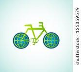 ecology of bike world | Shutterstock .eps vector #135359579