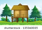 illustration of a small house...   Shutterstock . vector #135360035