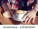 coffee shop latte art   Shutterstock . vector #1353603044
