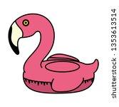 elegant flamingo bird float | Shutterstock .eps vector #1353613514