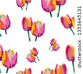 floral seamless pattern of... | Shutterstock .eps vector #1353645131