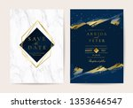 wedding invitation  thank you... | Shutterstock .eps vector #1353646547