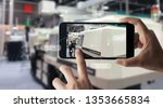 augmented reality concept. ar.... | Shutterstock . vector #1353665834