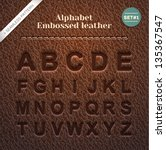 Leather Stamped Alphabet