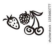 strawberry raspberry and cherry....   Shutterstock .eps vector #1353683777