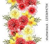 flower print. elegance seamless ... | Shutterstock .eps vector #1353694754