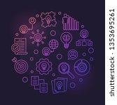 business ideas vector round... | Shutterstock .eps vector #1353695261