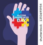 autism day campaign | Shutterstock .eps vector #1353695954