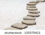 Zen Stone Path In A Japanese...