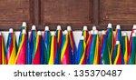 colorful umbrellas.   Shutterstock . vector #135370487