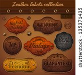 leather labels collection  ... | Shutterstock .eps vector #135371435