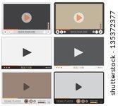 media player interface. video... | Shutterstock .eps vector #135372377