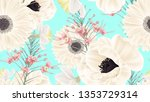 botanical seamless pattern ... | Shutterstock .eps vector #1353729314