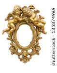 Small Mirror With Angels In Gold