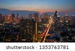 scenic of twilight sunset... | Shutterstock . vector #1353763781