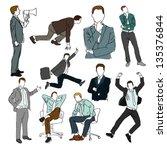 hand drawn figures set | Shutterstock .eps vector #135376844