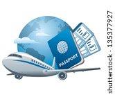 air travel concept | Shutterstock .eps vector #135377927