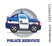 the police car. side view.... | Shutterstock .eps vector #1353799571