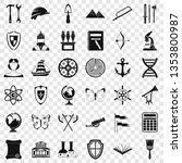 ancient thing icons set. simple ... | Shutterstock . vector #1353800987