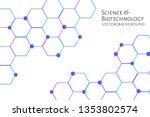 modern background with hexagons ... | Shutterstock .eps vector #1353802574
