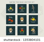 mexican day of the dead   dia... | Shutterstock .eps vector #1353804101