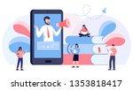 online podcast course vector... | Shutterstock .eps vector #1353818417