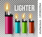 lighter . cigarette gas lighter ... | Shutterstock . vector #1353823964