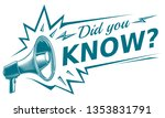 did you know   sign with...   Shutterstock .eps vector #1353831791