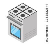 flat isometric icon of cooking... | Shutterstock .eps vector #1353832544