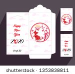 chinese new year red envelope... | Shutterstock .eps vector #1353838811
