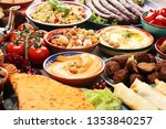 middle eastern or arabic dishes ... | Shutterstock . vector #1353840257