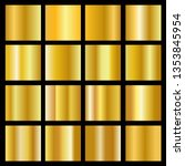 realistic gold gradient texture ... | Shutterstock .eps vector #1353845954