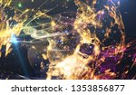 abstract multicolored space... | Shutterstock . vector #1353856877