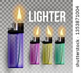 lighter vector. fuel ignite.... | Shutterstock .eps vector #1353871004
