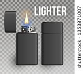 lighter vector. burn object.... | Shutterstock .eps vector #1353871007