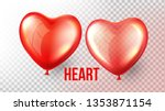 heart balloon vector.... | Shutterstock .eps vector #1353871154