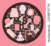 menstruation round concept...   Shutterstock . vector #1353875774