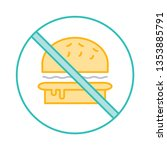 not allowed   fast food   stop   | Shutterstock .eps vector #1353885791