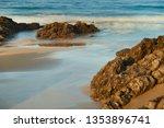 beach of  helgueras  noja ... | Shutterstock . vector #1353896741