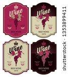set of four vector labels for...   Shutterstock .eps vector #1353899411